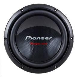 Sub piooner 400+ caixa litrada + taramps bass 400 digital novo