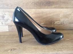 Calçado feminino Scarpin preto nº 35 - Novo - Blumenau/SC