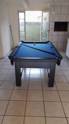 Mesa Tentação de 4 Pés Cor Tabaco Tecido Azul Mod. RKRM9974