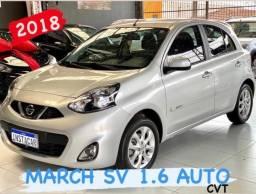 NISSAN MARCH 1.6 SV CVT AUTOMATICO 2018