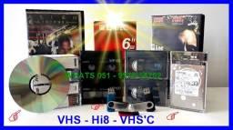 Fitas vhs para pendrive ou dvd por valor acessível