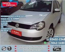 Prata Volkswagen polo 1.6 mi 8v flex manual 2014 R$ 22.600 30.000km - 2014