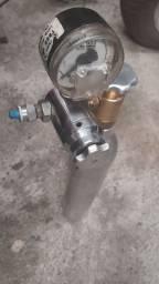 Kit CO2 com cilindro de aluminio e regulador