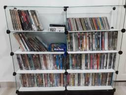 Coleção de CDs e DVDs