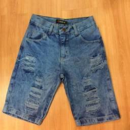 Bermudas Jeans de ótima qualidade