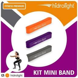 Kit de faixas elásticas Mini Band com 3 intensidades Hidrolight