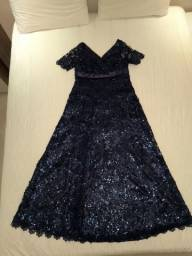 Vestido de paetê azul marinho