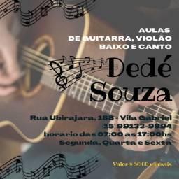 Aulas de Violão, Guitarra, Baixo e canto