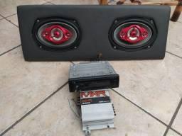 Mp3 cd piooner modulo e caixa 6x9