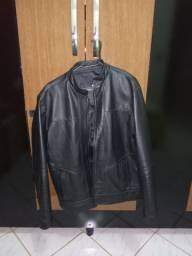 Jaqueta de couro bovino
