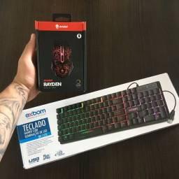 (Promoção) Kit Gamer Com Teclado + Mouse