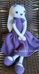 Coelha em Crochê feito a mão