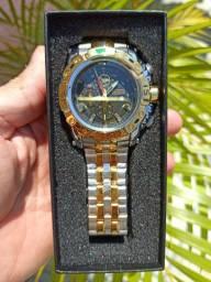 Relógio Temeite - Prata/Dourado