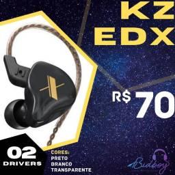 KZ EDX - NOVO, LACRADO, PRONTA ENTREGA - Fones retorno in-ear