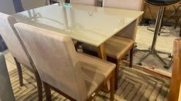 Título do anúncio: Mesa 4 de madeira maciça e acabamento laka