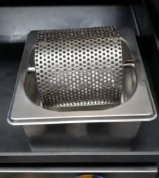 Mantegueira profissional inox para pao de hamburguer compacta (nova) Alecs