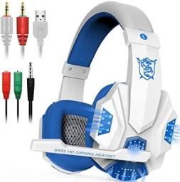Fone spider Stereo Surround Gaming Headset Headphone com microfone cancelamento de ruído.