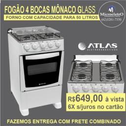 Fogão 4 Bocas Mônaco GlasS