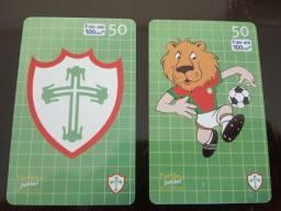 Título do anúncio: 2 Cartões Telefônicos - Série Completa - História da Portuguesa