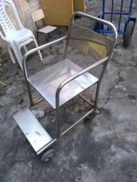 Título do anúncio: Cadeira hospitalar de aço inox