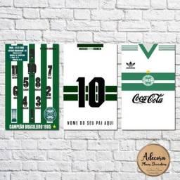 Kit 3 placas decorativas Futebol Coritiba