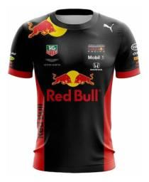 Camiseta Red Bull Aston Martin Preto Fórmula 1 F1 Masculino