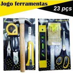 Título do anúncio: Jogo de ferramentas c/23 peças Titanium do Brasil