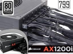 Fonte Corsair 1200W 80 Plus Platinum Modular HX1200 PC gamer