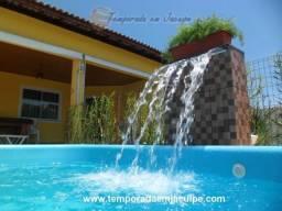 Excelentes casas de praia com 4 suítes e dependência na praia em Barra do Jacuípe