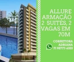 Allure Residencial - 2 Suites, Varanda e 2 Vagas em Armação - 399.000,