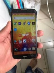 LG k10 trincado mais funcionando tudo so R$130