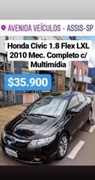 Honda Civic 1.8 Flex LXL Mec Completo - 2010