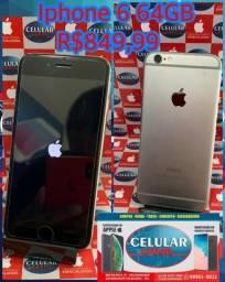 Iphone 6 64GB Cinza Espacial Usado Com Garantia De Loja