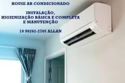 Instalação, manutenção e Limpeza de ar condicionado 19 99262-2705 whats