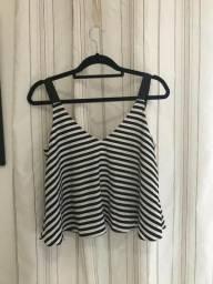 Vendo Bluza Zara - Cropped Preto e Branco