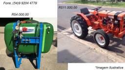 Trator Agrale 4100 e pulverizador