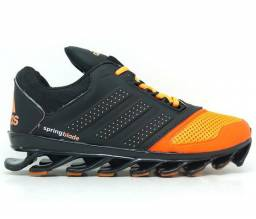 Tênis Adidas Springblade Drive Preto e Laranja