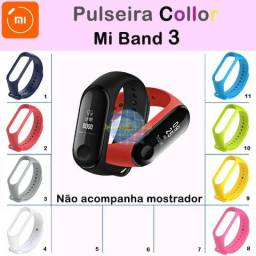 Pulseira colorida p/ Mi Band 3 (Silicone)