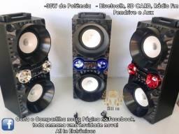 Caixa de som Portátil Portátil KTS-893 (30w de Potência)