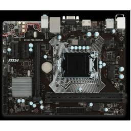Placa Mãe Msi H110m Pro-vh Plus Usb3.0 Hdmi 6 e 7ªGeração C/ Led
