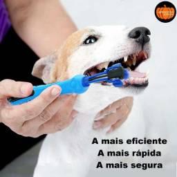 Escova de dente pet cães gatos multi-ângulo