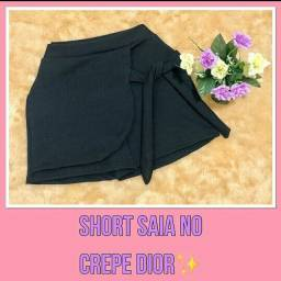 Short saia no crepe Dior
