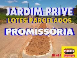 LOTES PARCELADOS NO SETOR JARDIM PRIVE