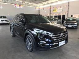 HYUNDAI Tucson TUCSON LIMITED 1.6 GDI TURBO AUTOMÁTICA TETO SOLAR PANORÂMICO 2018 PRETA