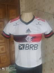 Blusa Branca Feminina Flamengo