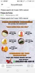 Polpas de frutas 100% natural