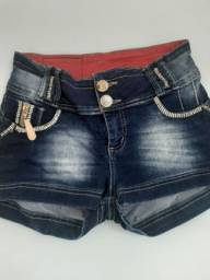 Shorts preta bronze