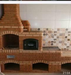 PROMOCAO IMPERDÍVEL!td construído churrasqueira forno e fogão  SERVIÇOS DE PEDREIRO