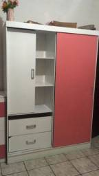 Título do anúncio: Guarda roupa de solteiro rosa