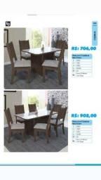 Título do anúncio: Mesa de 4 e 6 lugares na promoção com espumas nas cadeiras